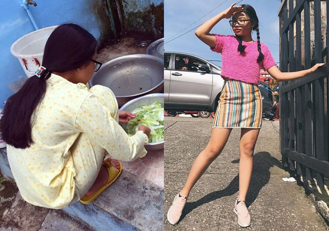Phong cách ra phố sành điệu của Phương Mỹ Chi với short ngắn, quần rách te tua-1