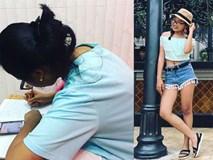 Phong cách ra phố sành điệu của Phương Mỹ Chi với short ngắn, quần rách te tua