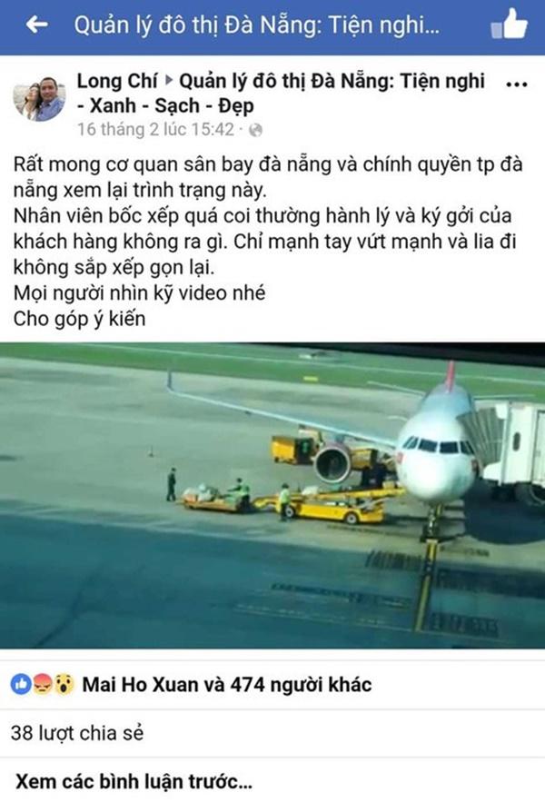 Clip nhân viên sân bay Đà Nẵng ném hành lý hành khách-2
