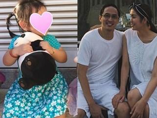 Chị chồng vô tình để lộ gương mặt bụ bẫm của con gái Tăng Thanh Hà