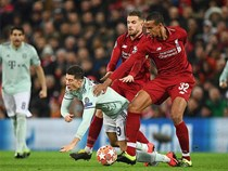 Liverpool và Bayern Munich bất phân thắng bại tại Anfield