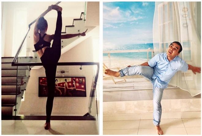 Bắt chước vợ tập yoga và tự nhận gần giống, Quyền Linh nhận cái kết đắng-1