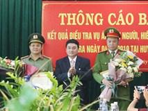 Trao thưởng công an phá án vụ nữ sinh giao gà bị sát hại: