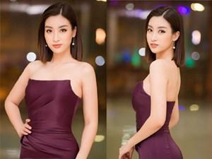 Hoa hậu Mỹ Linh vai trần gợi cảm làm giám khảo Người đẹp Kinh Bắc