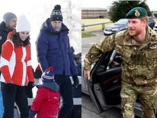Hoàng tử Harry lẻ bóng một mình khi vợ bầu Meghan tiệc tùng ồn ào ở Mỹ, nhìn gia đình Công nương Kate khác xa một trời một vực