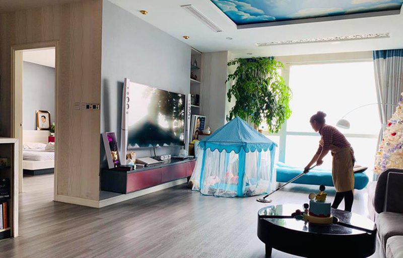 Cận cảnh căn hộ siêu sang của nam MC điển trai về nhà là cởi com-lê dọn dẹp giúp vợ-4