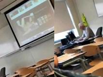 Thầy giáo lén xem ảnh khiêu dâm, nào ngờ bị học sinh phát hiện ngay trên máy chiếu