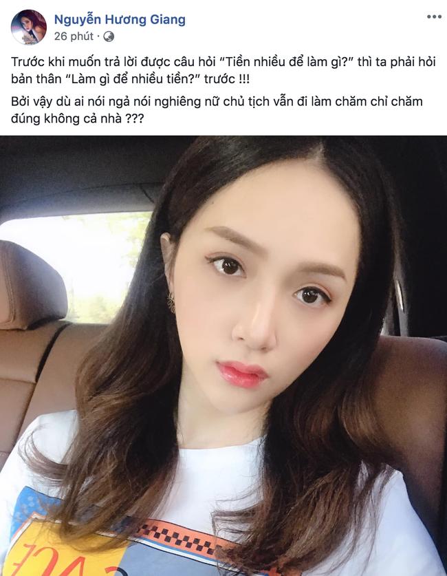 Không vội trả lời Tiền nhiều để làm gì?, Hoa hậu Hương Giang vặn ngược lại câu hỏi khiến dân mạng gật gù đồng tình-1