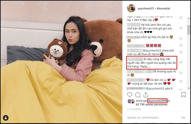 Chỉ đăng 1 bức ảnh selfie, bạn gái Duy Mạnh lại bị chê trách nhà giàu còn muốn moi tiền người yêu và fan, lý do là...-2