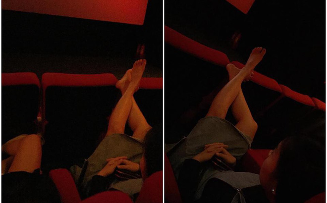 Gác chân lên ghế trong rạp phim, cô gái nhận phản ứng chưa từng có của dân mạng-1