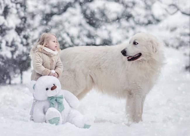 Bộ ảnh đẹp đến nao lòng của các bé chụp cùng thú cưng khổng lồ khiến ai nấy đều phải ngẩn ngơ, trầm trồ-9