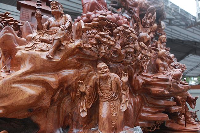 Tận thấy bộ ba tượng phật bằng gỗ quý giá gần 3 tỷ đồng-4