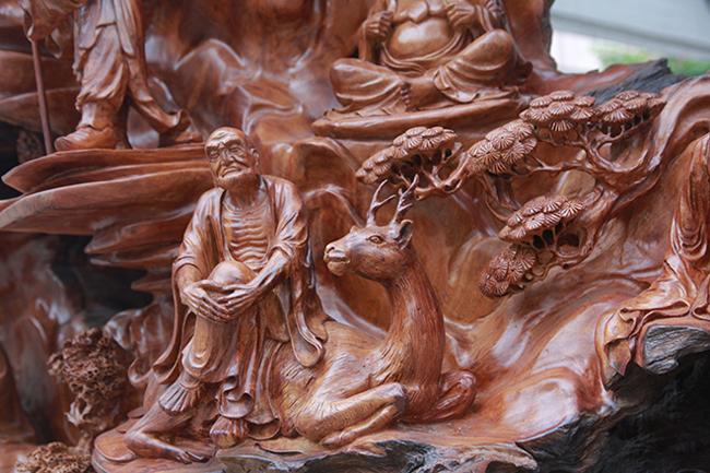 Tận thấy bộ ba tượng phật bằng gỗ quý giá gần 3 tỷ đồng-5