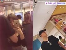 Thủ môn Đặng Văn Lâm đang đưa Yến Xuân đi mua sắm ở Thái Lan?