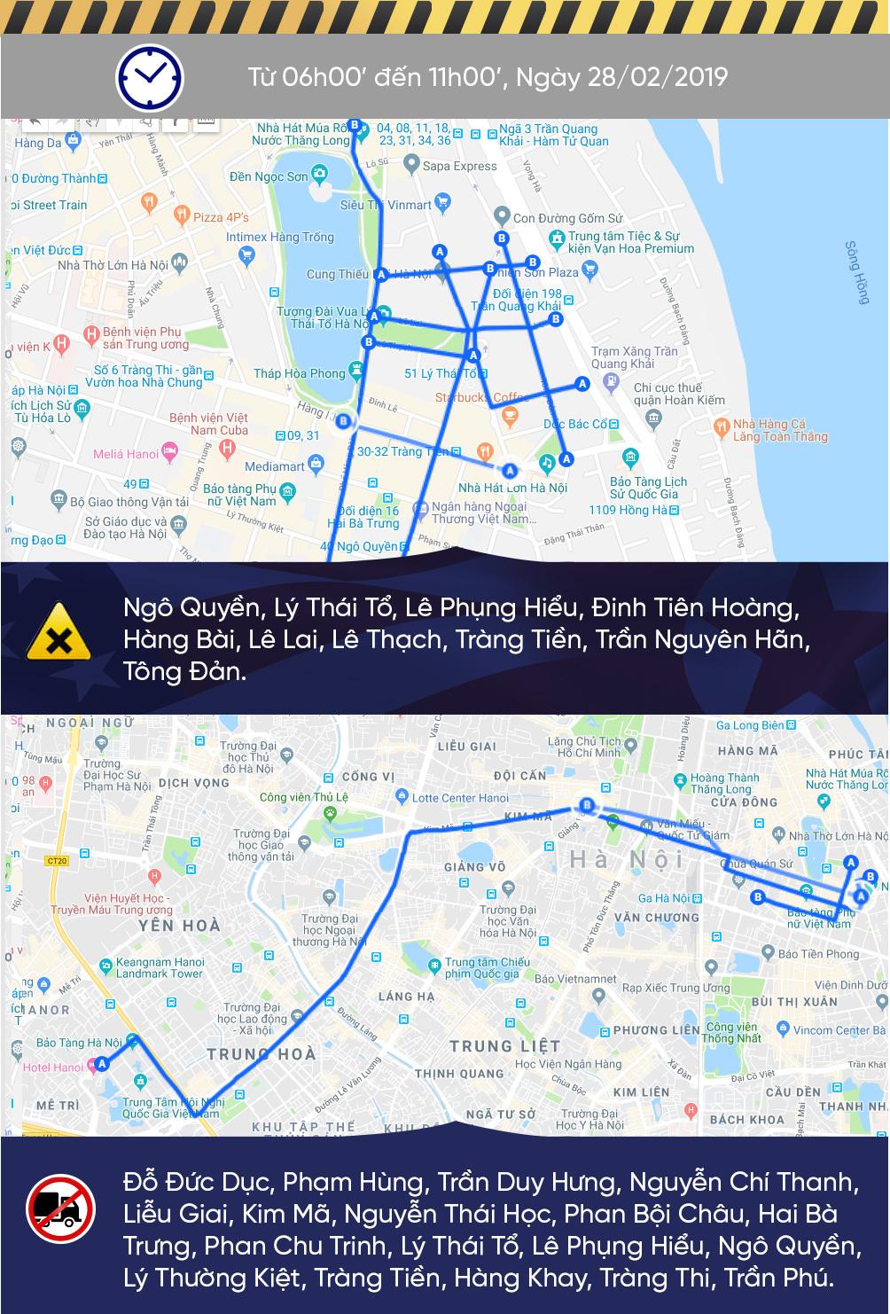 Sơ đồ cấm đường Hà Nội phục vụ Thượng đỉnh Mỹ - Triều-3