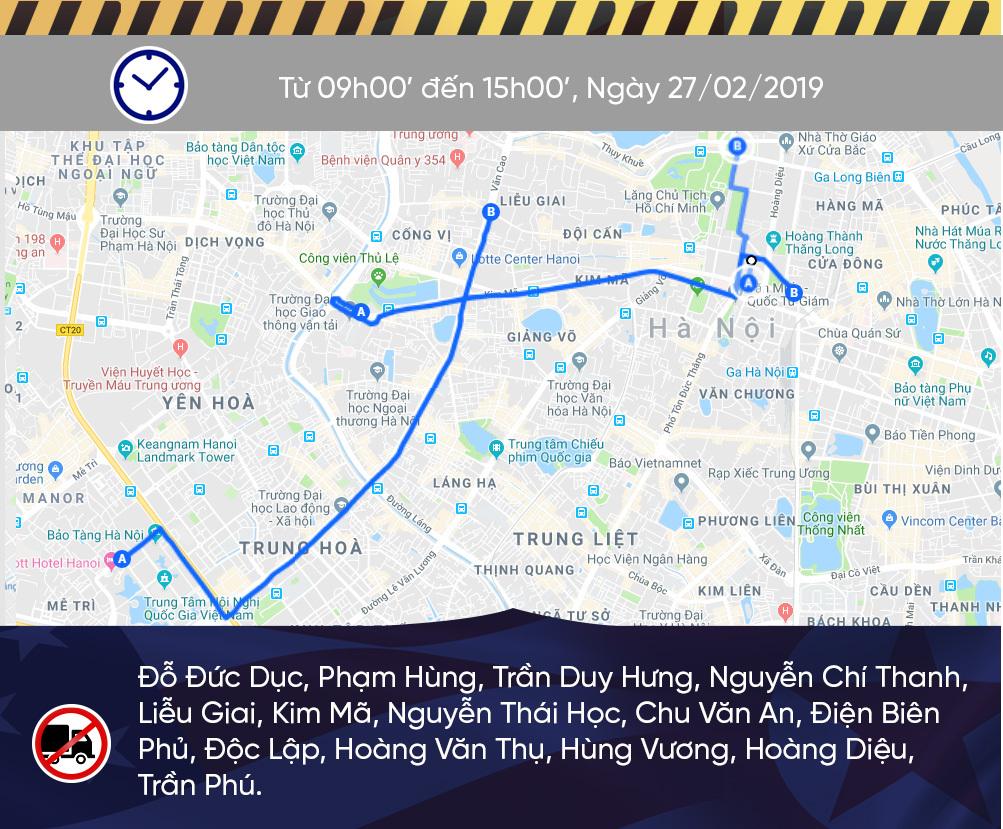 Sơ đồ cấm đường Hà Nội phục vụ Thượng đỉnh Mỹ - Triều-2