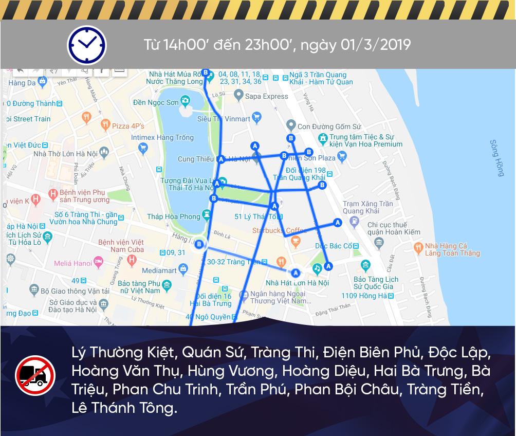 Sơ đồ cấm đường Hà Nội phục vụ Thượng đỉnh Mỹ - Triều-4