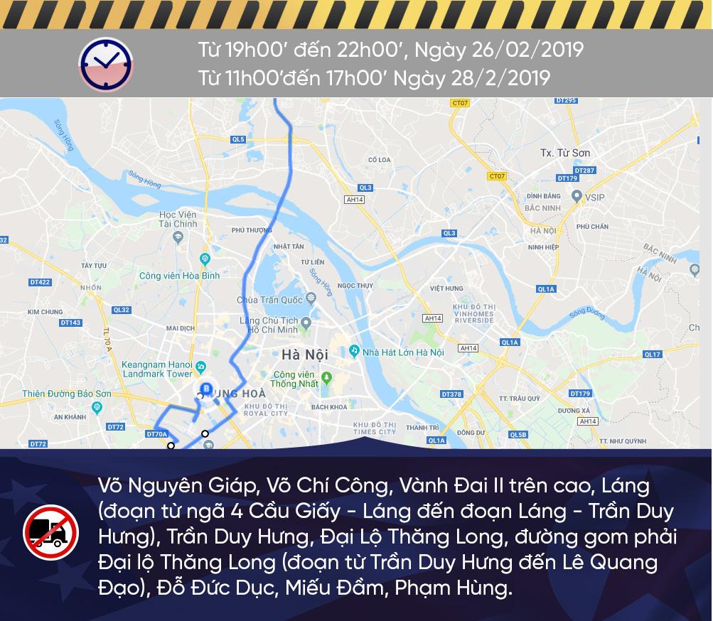 Sơ đồ cấm đường Hà Nội phục vụ Thượng đỉnh Mỹ - Triều-1