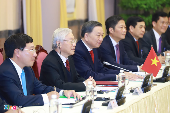 Thủ tướng Nguyễn Xuân Phúc hội kiến Tổng thống Trump-14