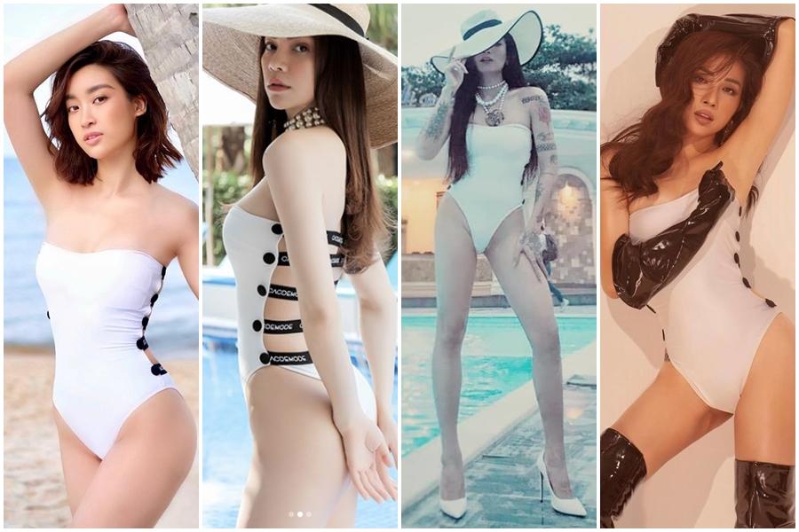 Hoa hậu nghèo Đỗ Mỹ Linh đụng hàng đồ tắm với nữ hoàng giải trí Hồ Ngọc Hà và BB Trần: ai đẹp hơn ai?-12