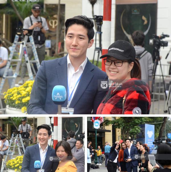 Nhiều chị em công sở bủa vây, tranh nhau chụp ảnh cùng nam phóng viên Hàn Quốc điển trai trên phố Hà Nội-6
