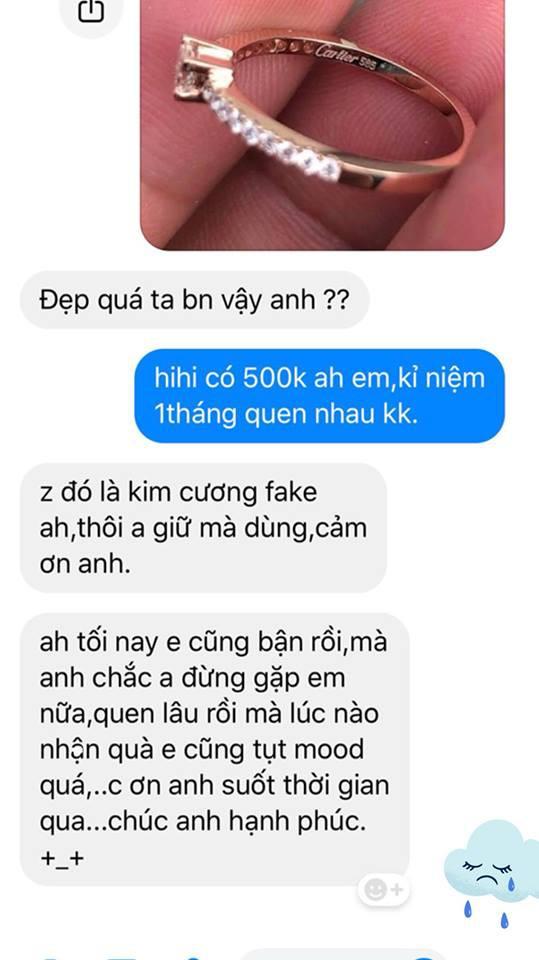 Mua nhẫn 60 triệu tặng bạn gái nhưng giả vờ báo giá chỉ 500 nghìn, chàng trai há hốc mồm khi nhận được phản ứng-1