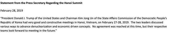 NÓNG: Ông Trump và ông Kim Jong Un không đạt được thỏa thuận nào tại thượng đỉnh Mỹ - Triều-1