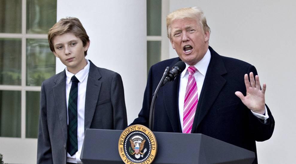 Cuộc sống đi lùi để quay lại vạch đích của con trai út Tổng thống Trump: Đến trường học cũng sang chảnh bậc nhất nước Mỹ-5