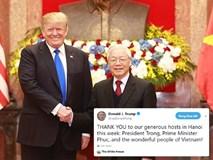 Ông Donald Trump đăng video cảm ơn lãnh đạo Việt Nam