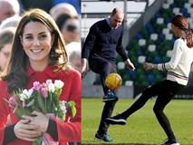 Công nương Kate gây bất ngờ khi trổ tài đá bóng điêu luyện, kết hợp ăn ý với chồng trong chuyến công du khiến người dùng mạng phát sốt