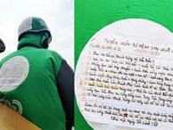Mảnh giấy dán sau lưng tài xế Grab, nội dung khiến tất cả tò mò tìm đọc