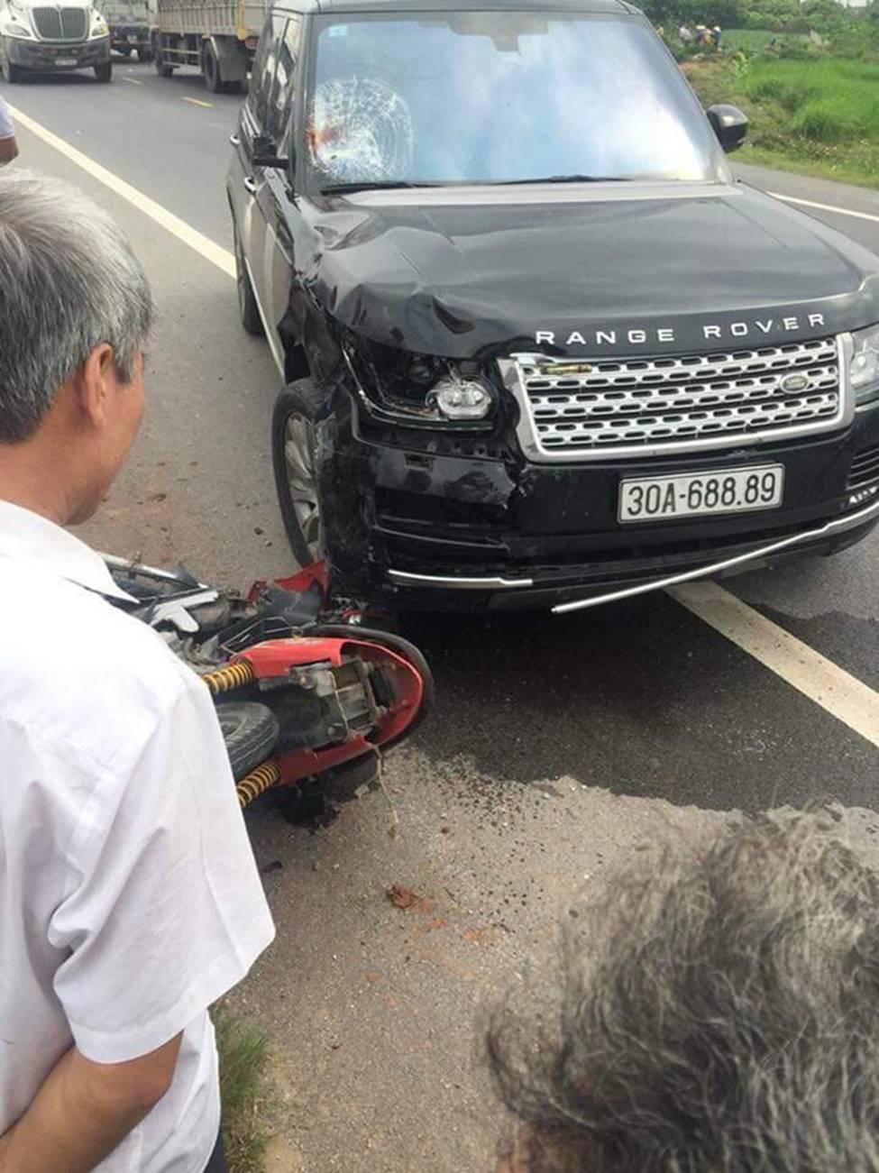 Hưng Yên: Chồng tử vong, vợ nguy kịch sau khi va chạm với xe Range Rover-2