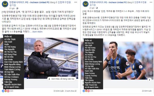Fan Việt làm loạn trên fanpage của Incheon United, khiến NHM Hàn Quốc thất vọng-2