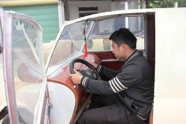 """9x Nghệ An tự chế siêu xe"""" từ động cơ xe máy-6"""