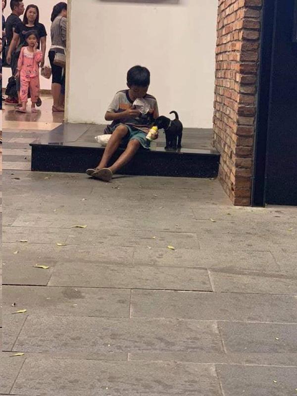 Câu chuyện về cậu bé đường phố chia sữa cho chú chó nhỏ khiến dân mạng suy ngẫm về giá trị của tình yêu thương-2