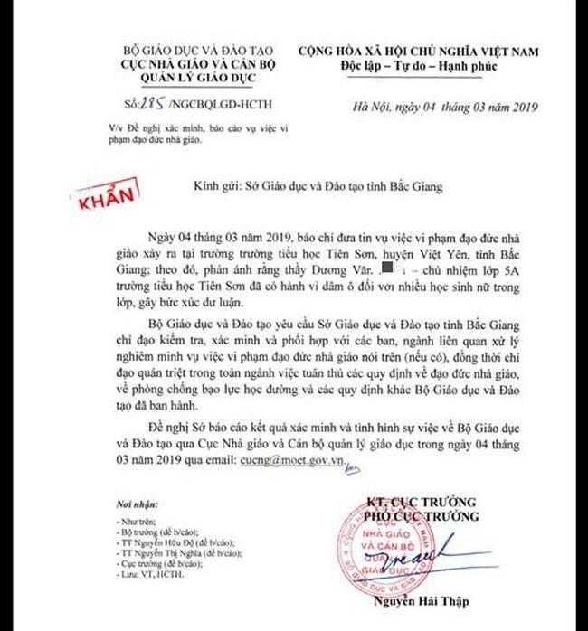 Vụ giáo viên bị tố dâm ô học sinh: Đại diện chính quyền bác bỏ thông tin ông M. sàm sỡ ở khu vực nhà vệ sinh-3