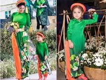 'Tiểu Hoa hậu' nhà Hà Kiều Anh xinh như thiên thần trình diễn áo dài