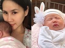 Thân Thúy Hà lần đầu khoe ảnh cận mặt con gái 1 tháng tuổi bụ bẫm đáng yêu