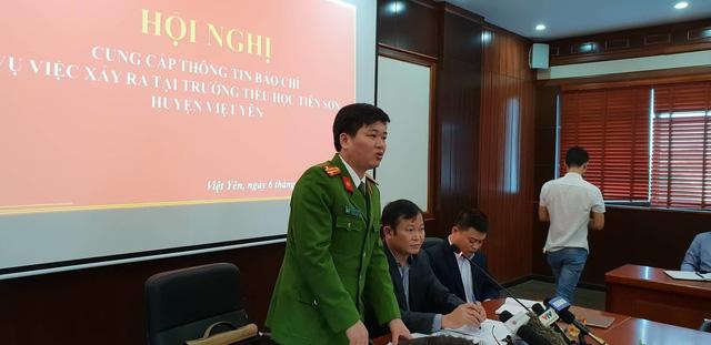 Họp báo chính thức thông tin vụ thầy giáo bị tố dâm ô hàng loạt bé gái tiểu học ở Bắc Giang-1