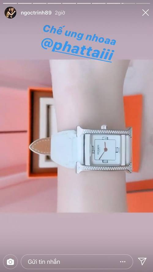 Bóc giá chiếc đồng hồ đính 122 viên kim cương lấp lánh mới nhất của Ngọc Trinh-1