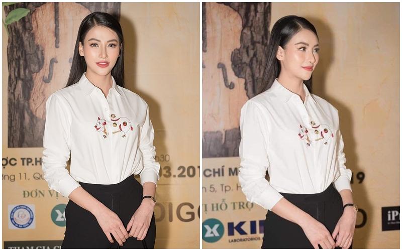 Thêm 1 mẫu áo sơ mi quốc dân lấy lòng từ hoa hậu Kỳ Duyên, Phương Khánh đến các cầu thủ như Văn Thanh, Bùi Tiến Dũng-1