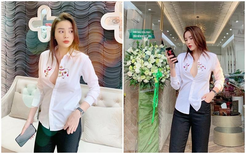 Thêm 1 mẫu áo sơ mi quốc dân lấy lòng từ hoa hậu Kỳ Duyên, Phương Khánh đến các cầu thủ như Văn Thanh, Bùi Tiến Dũng-3