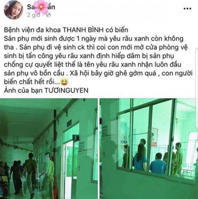 Vụ sản phụ bị tấn công tình dục trong nhà vệ sinh bệnh viện: Hé lộ lời khai của nghi phạm-1