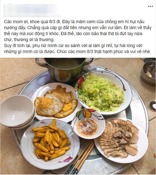Mâm cơm chồng nấu cho vợ ngày 8/3 khiến chị em xuýt xoa, nhưng tất cả trở mặt khi phát hiện điểm đáng ngờ-1