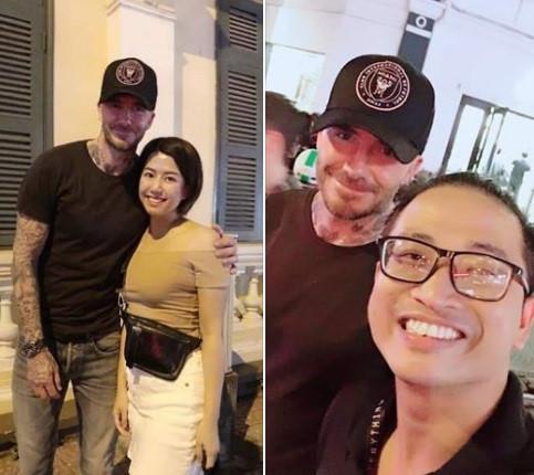 Beckham vui vẻ chụp ảnh cùng fan tại phố đi bộ ở TP.HCM-1