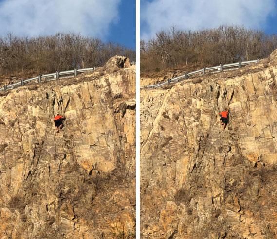 Clip: Nam thanh niên Vũng Tàu liều lĩnh leo núi đá cheo leo bằng tay không rồi bất ngờ rơi xuống khiến nhiều người thót tim-2