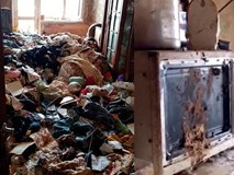 Bé gái bị bỏ rơi trong căn nhà ngập rác, gián, không biết nói và giao tiếp xã hội