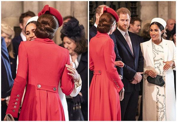 Chạm mặt lần thứ 2, Meghan và chị dâu bất ngờ ôm hôn nhau thắm thiết nhưng sau đó vẻ mặt của Công nương Kate mới là điều khó hiểu-4
