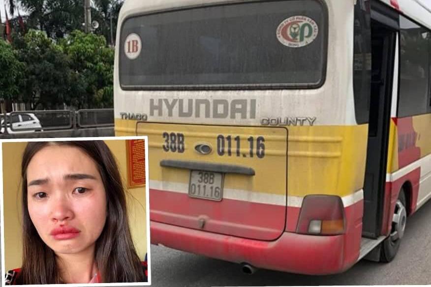 Nữ hành khách bị đánh giập mũi vì quay clip xe buýt lạng lách-1