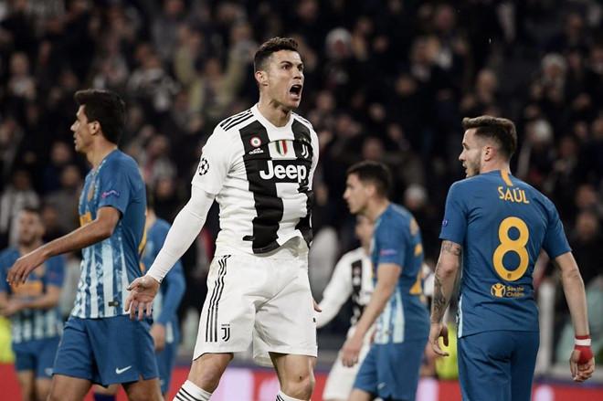 Ronaldo lập hat-trick giúp Juve đi tiếp vào tứ kết Champions League-1